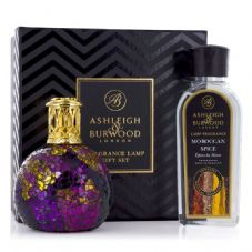 Ashleigh & Burwood Fragrance Lamp Gift Set -  Magenta Crush & Moroccan Spice Lamp Oil
